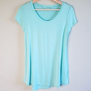 Chris & Carol Long Blue Teal Soft T Shirt F19